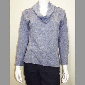 Light Blue Soft Cowl/Turtleneck Top - Long Sleeved